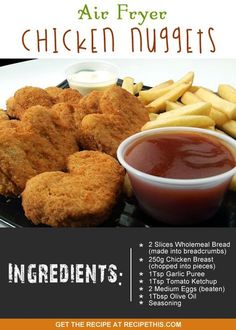welcome to my healthy chicken nuggets recipe in the air fryer                                                                                                                                                      More