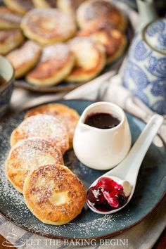 Ricotta Pancakes - Crispy on the outside, creamy on the inside, paired with some sour cream and jam and you've got breakfast fit for a queen!