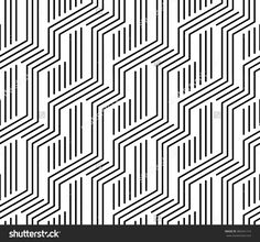 Vector modern seamless geometry pattern stripes, black and white abstract geometric background, pillow print, monochrome retro texture, hipster fashion design