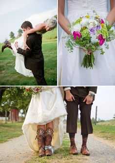 #scenicwedding #firesidecatering #bride #groom #photography #floral #boots #rusticwedding