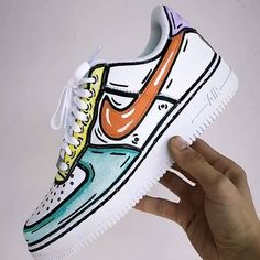 "Rate these ""Cartoon"" Air Force 1 Customs ⚡🔥😍 . Cop or Drop? Tag an Air Force 1 Fan 👀 . Custom Sneakers, Vans Sneakers, Sneakers Fashion, Fashion Shoes, Tennis Fashion, Gucci Sneakers, Nike Fashion, White Sneakers, Fashion Outfits"