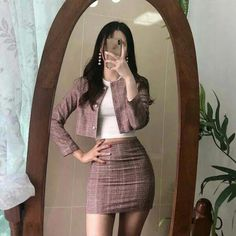 korean girl style🔥 ❤ 💖 - The world's most private search engine Korean Fashion Trends, Asian Fashion, Look Fashion, Korea Fashion, Korean Fashion Fall, Classy Fashion, 70s Fashion, Fashion Women, Mode Outfits