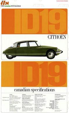 1965 Citroën ID 19 - Canada