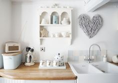 Image of Kitchen design in Primrose Cottage Kitchen Furniture, Kitchen Decor, Kitchen Design, Kitchen Ideas, Kitchen Stuff, Kitchen Sink, Belfast Sink, Country Kitchen Inspiration, Interior Inspiration