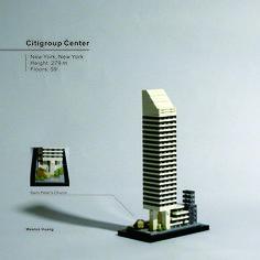 Citigroup Center Lego Skyscraper, St Peter's Church, Micro Lego, Lego Architecture, Skyscrapers, Legos, Buildings, Corner, Fantasy