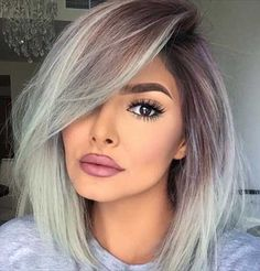 16.Long Bob Ombre Hair Color