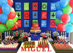 Power Rangers Samurai Birthday Party via Kara's Party Ideas KarasPartyIdeas.com Cake, supplies, decor, favors, food, and more! #powerrangers #powerrangersparty #samuraiparty (9)