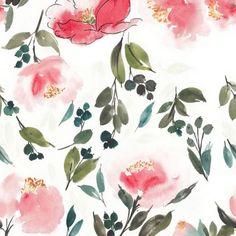 #watercolor #watercolours #acuarelle #alaiadesign # design #textil #patterns #repit #flowers #floral #watercolorflowers #pink #brushpainting #chinesepainting #feminine #nurserydecor #walldecor