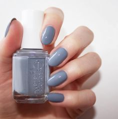 Always trending is this smoky stone rose, 'petal pushers' essie mani.