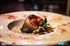 Χιουγκιάρ Μπεγιντί πουρές καπνιστής μελιτζάνας + ψάρι Λαυράκι ψημένο στο φούρνο #SeaFood #Thessaloniki #Restaurant #FruttiDiMare