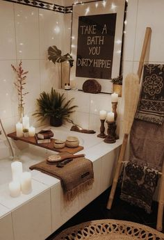 Netherlands Home Tour Neutral Tones Boho Home Decor Inspiration is part of Farmhouse bathroom art - Farmhouse Bathroom Art, Rustic Bathrooms, Dream Bathrooms, Rustic Bathroom Mirrors, Bathroom Candles, 1920s Bathroom, Western Bathrooms, Cottage Bathrooms, Bathroom Ladder
