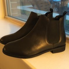 ASOS black booties size US 10 women's. Never worn outside brand new black ASOS booties. I ordered a US 10 in women's but they are too narrow for my wider feet. I'm not positive what the 7.5 means on the bottom, but would fit a women's 9.5 or 10 with more narrow feet. ASOS Shoes Ankle Boots & Booties