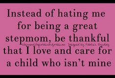 Great stepmom, love