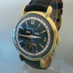 JAEGER LECOULTRE vintage triple date moon phases gold 18ct