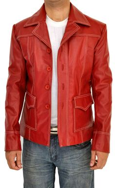 http://www.fanjackets.com/products/brad-pitt-fight-club-jacket-.html  Buy Red Fight Club Jacket at the Lowest Price. also, We Offer Discounts on Brad Pitt Leather Jacket at Our Online Shop.