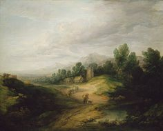 Wooded Upland Landscape, probably 1783  Thomas Gainsborough (British, 1727–1788)  Oil on canvas