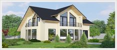 Home Design Plans, Plan Design, Future House, Colonial House Exteriors, Modern Bungalow House, Duplex House Plans, Timber Frame Homes, Design Case, Home Fashion