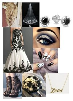 """Black and White Wedding"" by sammieburkeee on Polyvore"