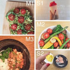 """Day 9 food diary, forgot to snap the egg until it was almost gone. S1: raw protein shake • M1: smashed avocado on gluten free seeded toast with baby toms…"""