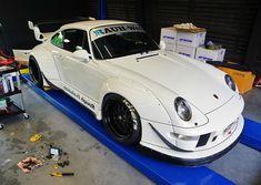 white RWB Porsche