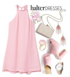 """Shoulder Show: Halter Dresses"" by joslynaurora on Polyvore featuring moda, Serefina, Kayu, MANGO, Goshwara, Heels, dress, sandals y halterdresses"