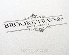 Logo Design Premade Photography Business Logo Watermark Logo Frame Logo Scroll Logo Text Logo Blog Logo