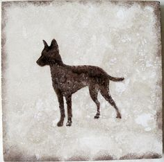 Manchester Terrier Dog Breeds Coasters by SerendipitiniPet on Etsy, $16.50
