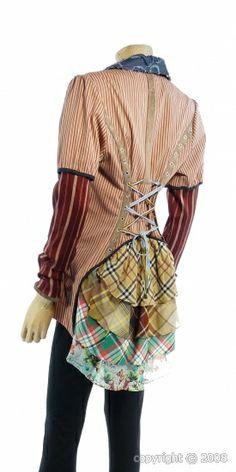Men's shirt corseted refashion