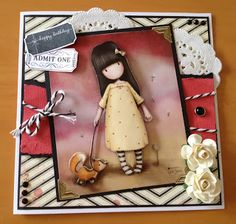 Gorjuss Card by Craft Island using Maggie Holmes papers