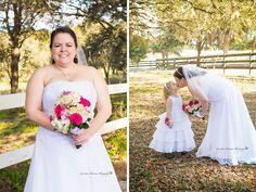 #wedding #bride #flowergirl #farm #country #rustic #Florida