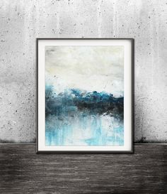 Printable art digital print download abstract landscape print painting blue art wall decor modern design poster contemporary artwork horizon by WishingWellGallery on Etsy https://www.etsy.com/au/listing/494589794/printable-art-digital-print-download