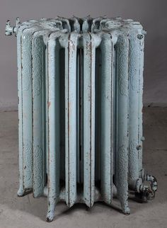 Very unusual cast iron radiator in a round shape. Steam Radiators, Home Radiators, Cast Iron Radiators, Vintage Home Decor, Vintage Furniture, Cool Furniture, Modern Furniture, Bright Rooms, House Inside