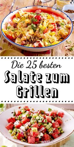 Salads for grilling - that tastes great with sausages, steak & Co.-Salate zum Grillen – das schmeckt zu Würstchen, Steak & Co. The food to be grilled is almost a minor matter – this 25 For # Salads to the you shouldn't miss it! Summer Grilling Recipes, Healthy Dinner Recipes, Pork Chop Recipes, Sausage Recipes, Steak Salat, Whole 30 Recipes, Summer Salads, Steaks, Tofu