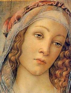 "Sandro Botticelli ""Madonna of the Pomegranate detail"" (1487)"