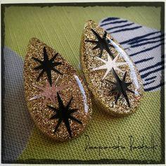 Confetti lucite XL teardrop earrings  Handmade by desperatebeatnik, €18.00
