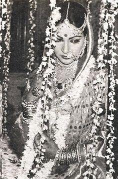 Vintage Bollywood glamour.