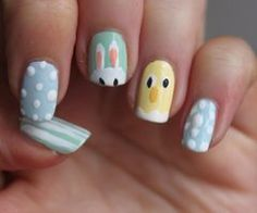 StyleVia: 15 Adorable Easter Nail Designs With Bunnies #prom nail art