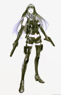 Safebooru is a anime and manga picture search engine, images are being updated hourly. Character Concept, Character Art, Concept Art, Character Design References, Character Development, Reference Manga, Female Cyborg, Cyberpunk, Art Japonais