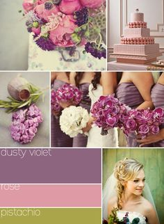 Good for romantic/vintage feel without doing all pinks.