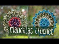 Como tejer un Mandala en tejido crochet o ganchillo tutorial paso a paso. - YouTube