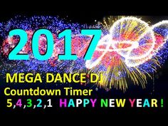 HAPPY NEW YEAR COUNTDOWN CLOCK ( v 204 ) Timer with sound Effects + Fireworks 2017 4k - YouTube