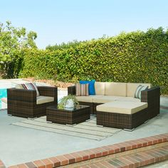 Embree 6 Piece Sectionsl Seating Group with Cushions