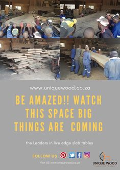 Watch  this space amazing new projects on the way. We are the leaders in custom design furniture call us for a quote www.uniquewood.co.za Custom Made Furniture, Solid Wood Furniture, Furniture Design, Mirror Ornaments, Slab Table, Tree Table, Showroom Design, Watch This Space, Back Patio