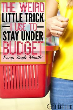 The one weird little trick I use to stay under budget every single month. ** Woah! I spent years struggling with going over budget! I tried this and was under budget and have been since. Where was this 4 years ago?! lol.