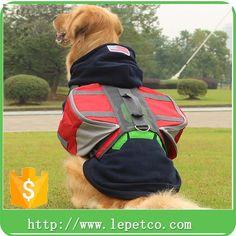 wholesale low price Dog Saddle breathable mesh padded washable Dog Saddle Bags for Hiking