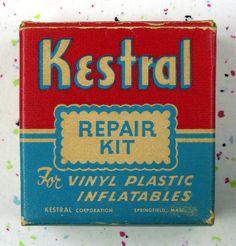Vintage repair kit package 1950s