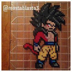 Goku SSJ4 - Dragon Ball perler beads by mastablasta3                                                                                                                             Plus