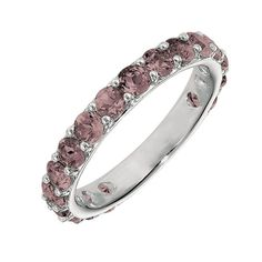 love this!  june birthstone ring | Home » Gabriel & Co. - Cultured Alexandrite Stackable June Birthstone ...