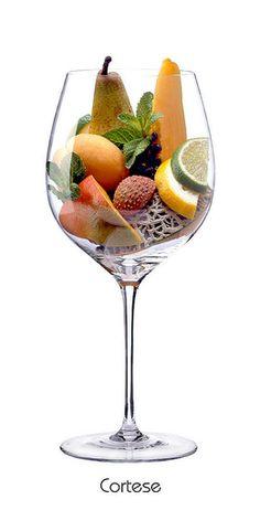 CORTESE:  Birne, Zitrone, Limette, Netzmelone, Minze, Pfirsich, Mango, Litschi