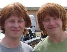 Rupert Grint | 36 Actors Hanging Out With Their Body Doubles